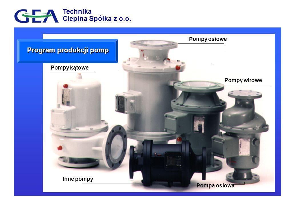 Pompy kątowe Pompy osiowe Pompy wirowe Inne pompy Pompa osiowa Program produkcji pomp Technika Cieplna Spółka z o.o.