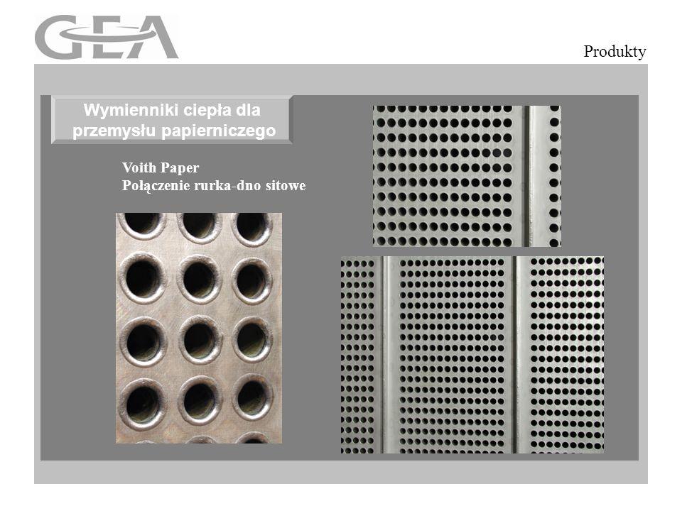 Eliptyczne rury żebrowane Produkty Voith Paper Połączenie rurka-dno sitowe Wymienniki ciepła dla przemysłu papierniczego