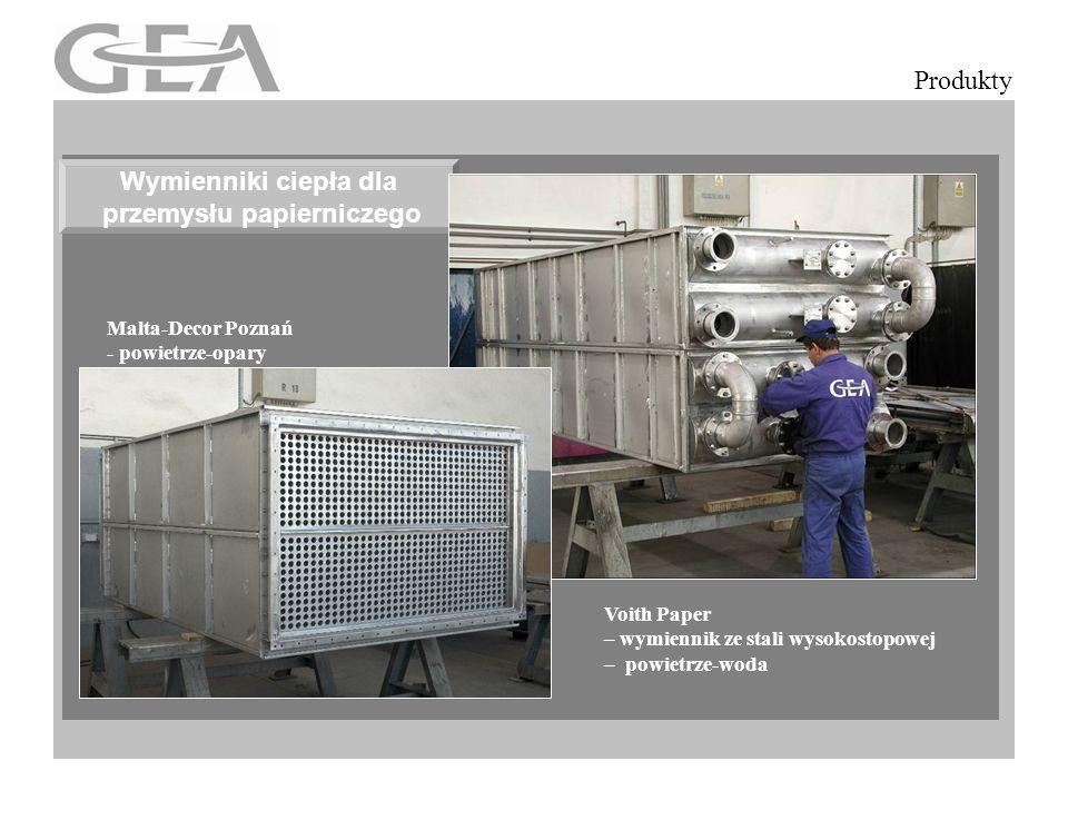 Eliptyczne rury żebrowane Produkty Voith Paper – wymiennik ze stali wysokostopowej – powietrze-powietrze Wymienniki ciepła dla przemysłu papierniczego