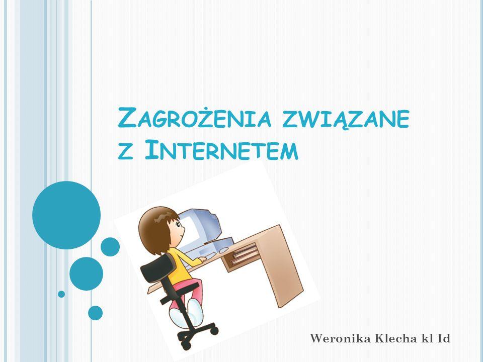 Z AGROŻENIA ZWIĄZANE Z I NTERNETEM Weronika Klecha kl Id