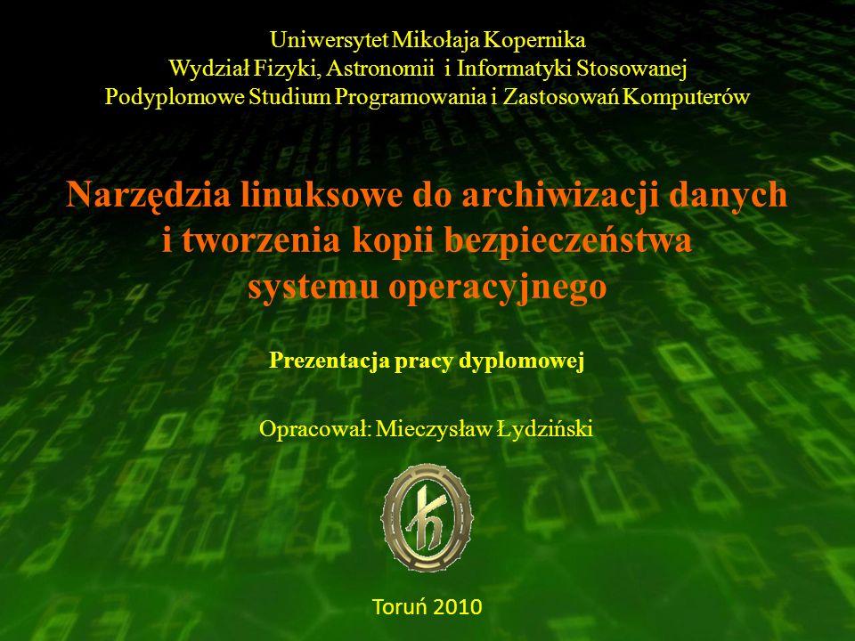 Uniwersytet Mikołaja Kopernika Wydział Fizyki, Astronomii i Informatyki Stosowanej Podyplomowe Studium Programowania i Zastosowań Komputerów Narzędzia