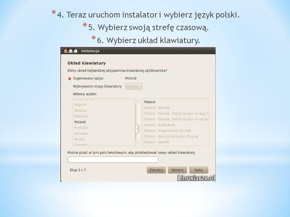 * 4.Teraz uruchom instalator i wybierz język polski.