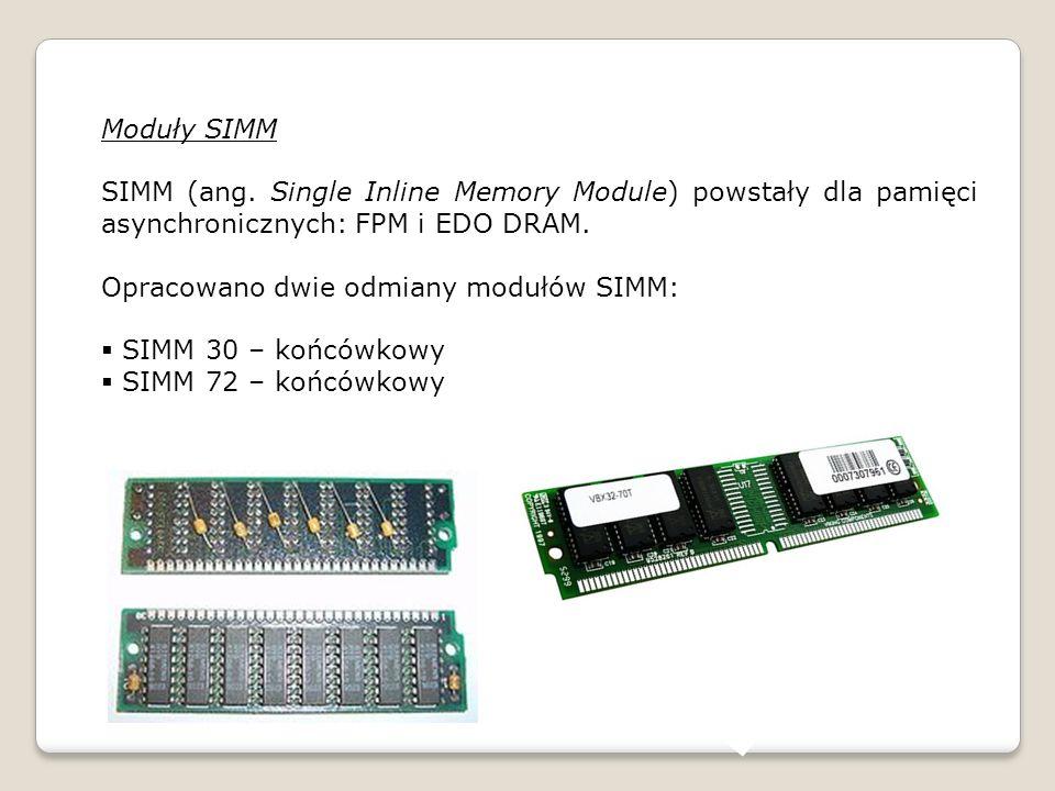 Moduły SIMM SIMM (ang.