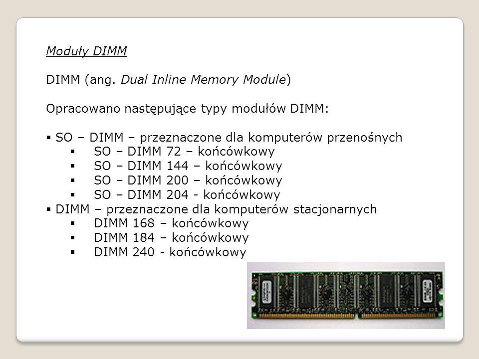 Moduły DIMM DIMM (ang.