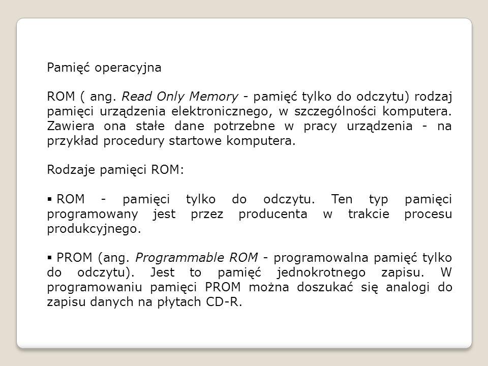 Pamięć operacyjna ROM ( ang.