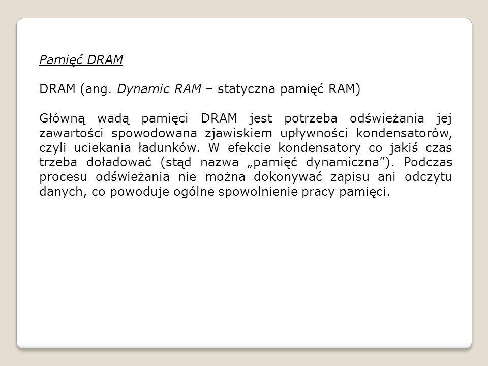 Pamięć DRAM DRAM (ang.