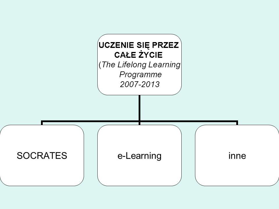 UCZENIE SIĘ PRZEZ CAŁE ŻYCIE (The Lifelong Learning Programme 2007-2013 SOCRATESe-Learninginne