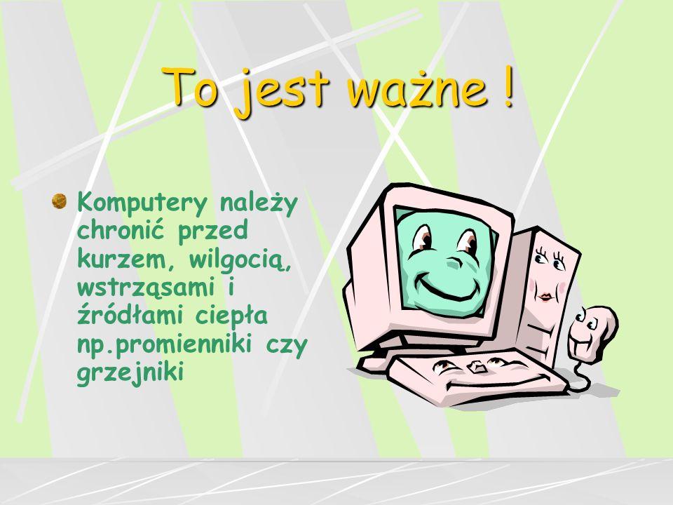 Kolejność włączania komputerów w pracowni : Nauczyciel - serwer Uczniowie - komputery uczniowskie