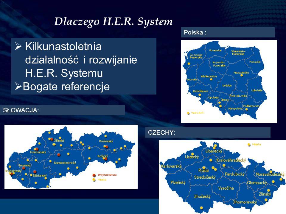 Dlaczego H.E.R. System SŁOWACJA: CZECHY: Polska : Kilkunastoletnia działalność i rozwijanie H.E.R.