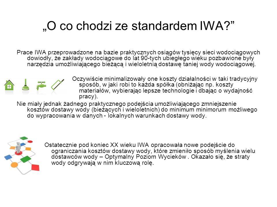 O co chodzi ze standardem IWA? Prace IWA przeprowadzone na bazie praktycznych osiągów tysięcy sieci wodociągowych dowiodły, że zakłady wodociągowe do