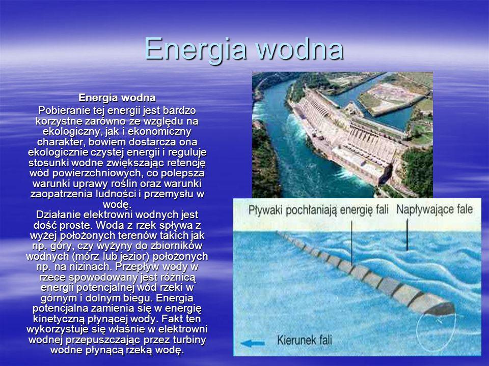 Energia geotermalna Źródłem energii geotermalnej jest wnętrze Ziemi o temperaturze około 5400 °C, generujące przepływ ciepła w kierunku powierzchni.