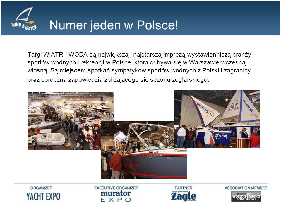 Numer jeden w Polsce! Targi WIATR i WODA są największą i najstarszą imprezą wystawienniczą branży sportów wodnych i rekreacji w Polsce, która odbywa s