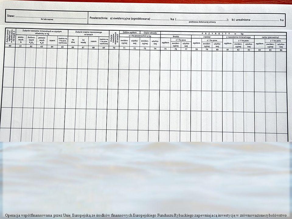 Wykorzystanie wody i odprowadzanie ścieków z hodowli ryb W załączniku 1 trzeba wypełnić rubrykę 3.1.6 lub 3.5 Wpisać wyniki z tabeli A pstrągarze, z tabeli E karpiarze