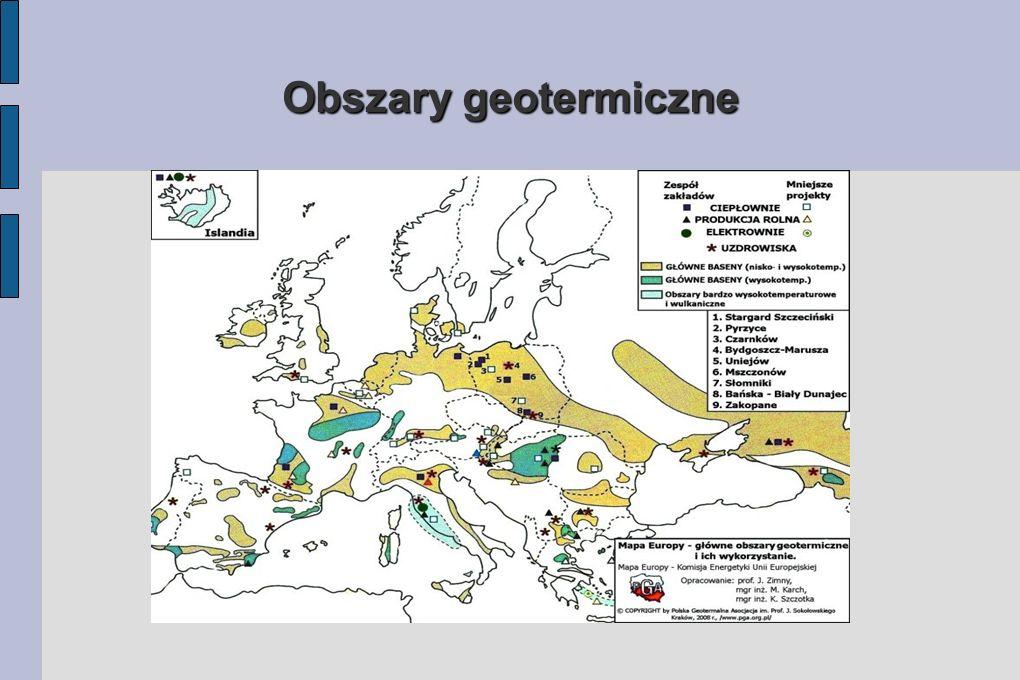 Zasoby światowe: Zasoby energetyczne geotermii możliwe do wykorzystania są wielokrotnie większe od zasobów kopalnych ropy i gazu. Średni potencjał ene