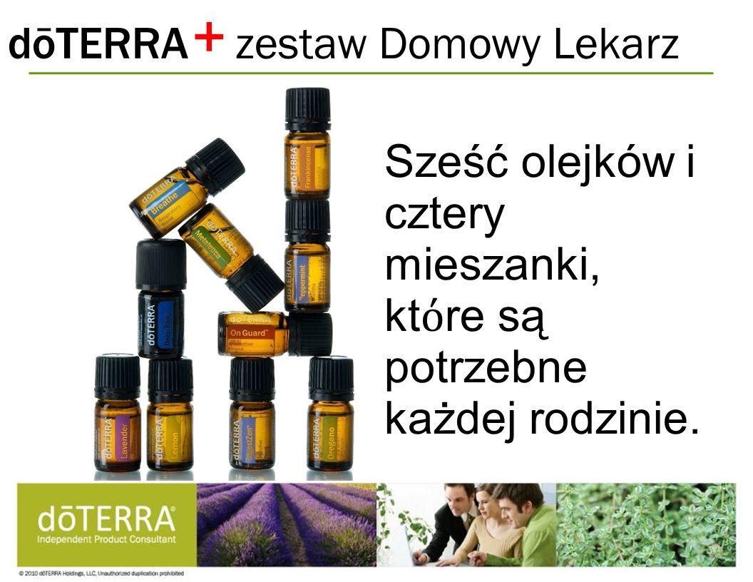 dōTERRA zestaw Domowy Lekarz Sześć olejków i cztery mieszanki, kt re są potrzebne każdej rodzinie. +