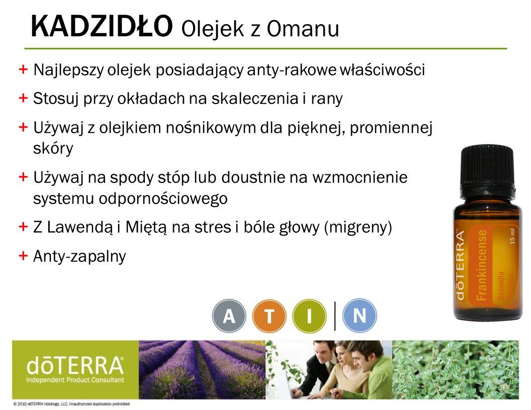 KADZIDŁO Olejek z Omanu +Najlepszy olejek posiadający anty-rakowe właściwości +Stosuj przy okładach na skaleczenia i rany +Używaj z olejkiem nośnikowy