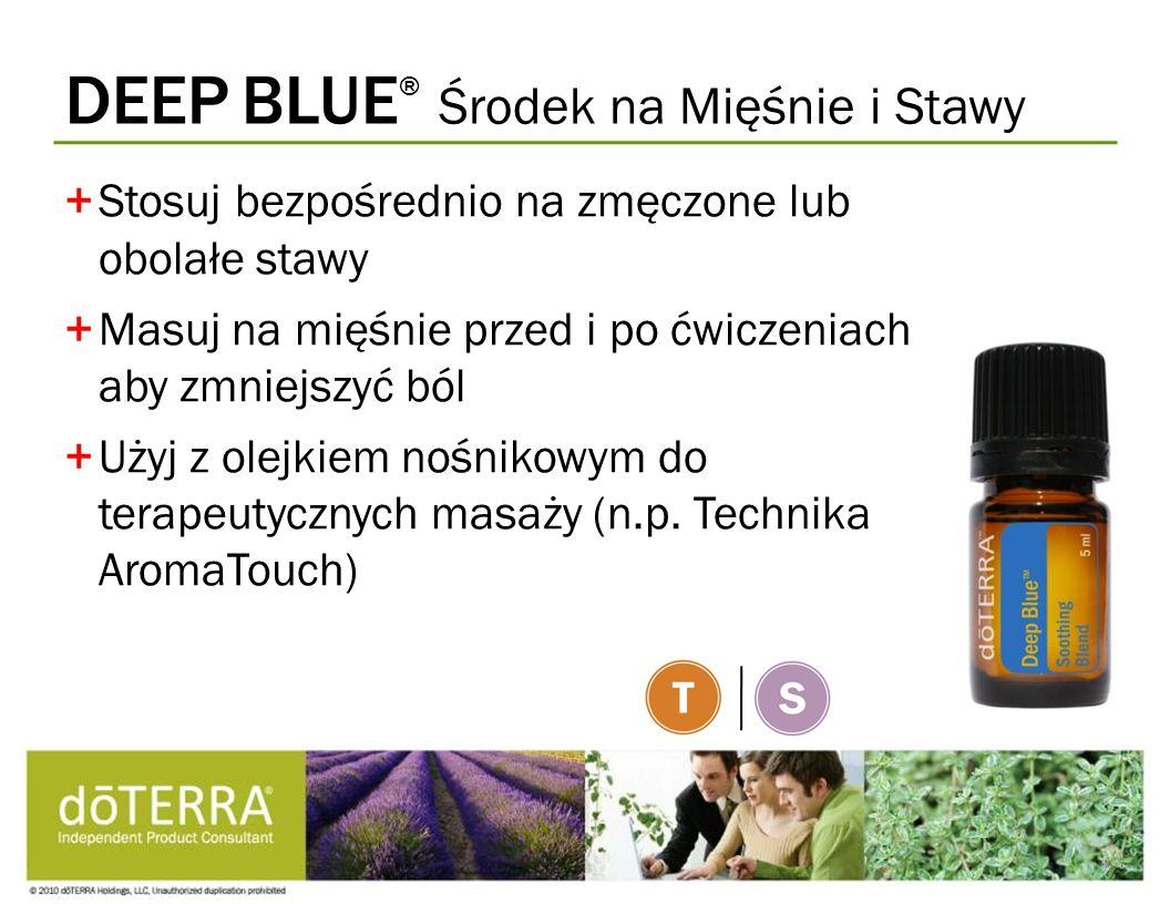 DEEP BLUE ® Środek na Mięśnie i Stawy +Stosuj bezpośrednio na zmęczone lub obolałe stawy +Masuj na mięśnie przed i po ćwiczeniach aby zmniejszyć ból +