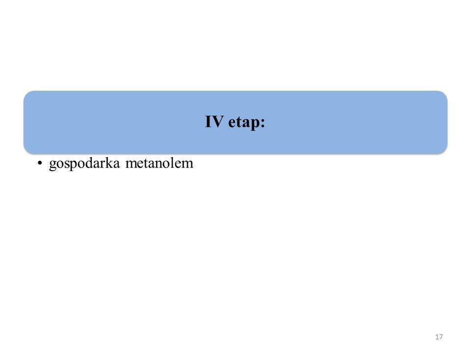 17 IV etap: gospodarka metanolem