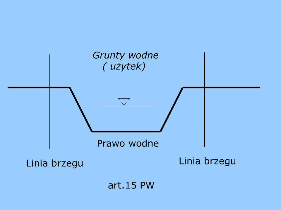 Linia brzegu Prawo wodne Linia brzegu Grunty wodne ( użytek) art.15 PW