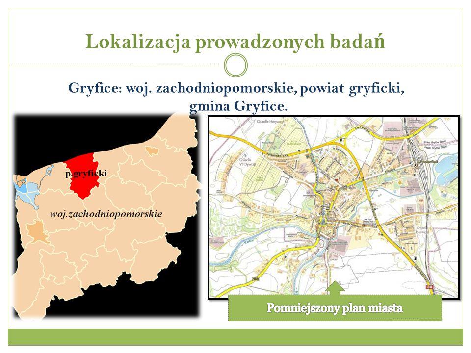 Gryfice: woj. zachodniopomorskie, powiat gryficki, gmina Gryfice.