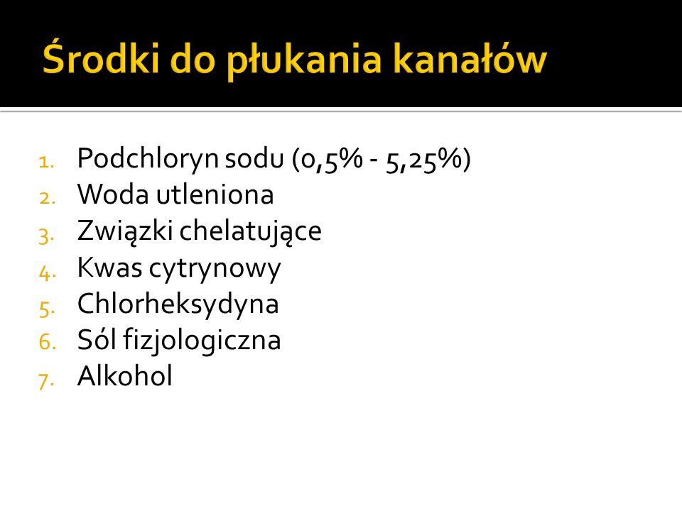 1.Podchloryn sodu (0,5% - 5,25%) 2. Woda utleniona 3.