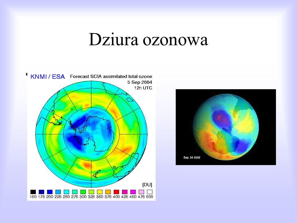 zagrożenia cywilizacyjne: dziura ozonowa, efekt cieplarniany, zanieczyszczenie powietrza, wody i gleby, kwaśne deszcze. Grzegorz Wach kl. IV TAK