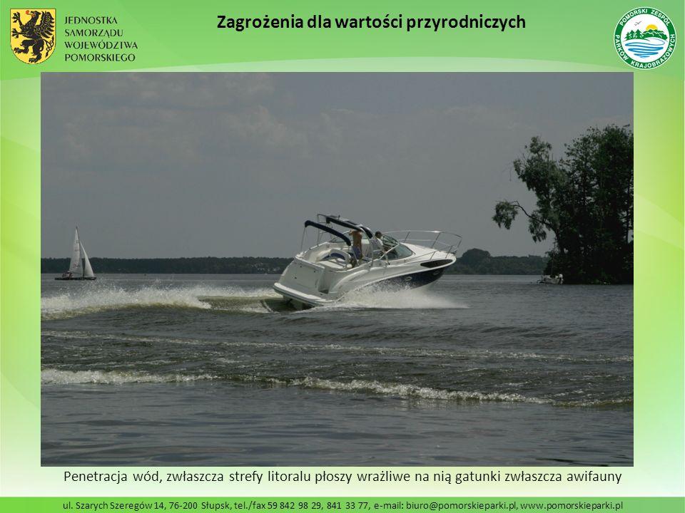 ul. Szarych Szeregów 14, 76-200 Słupsk, tel./fax 59 842 98 29, 841 33 77, e-mail: biuro@pomorskieparki.pl, www.pomorskieparki.pl Penetracja wód, zwłas