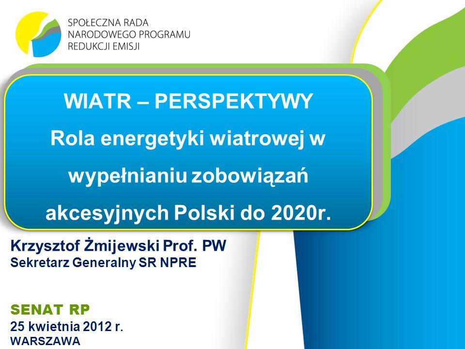 Krzysztof Żmijewski Prof. PW Sekretarz Generalny SR NPRE SENAT RP 25 kwietnia 2012 r.
