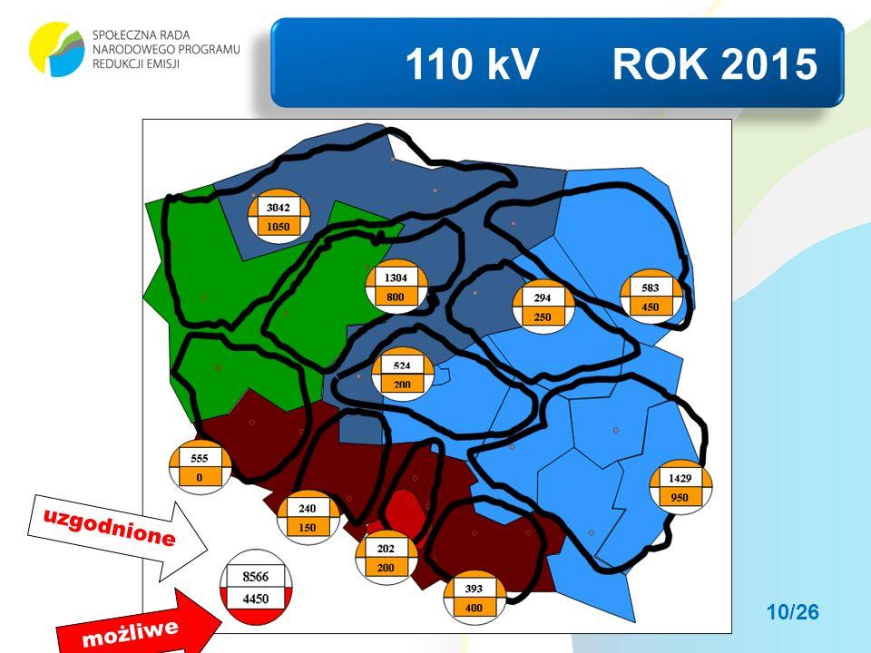 110 kV ROK 2015 uzgodnione możliwe 10/26
