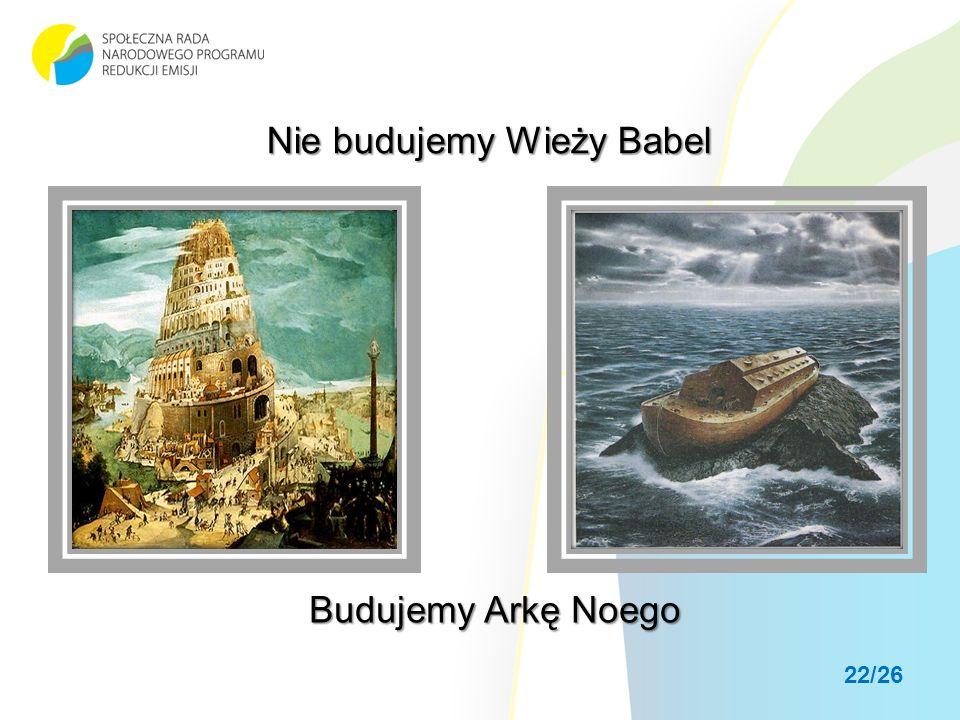 Nie budujemy Wieży Babel Budujemy Arkę Noego 22/26