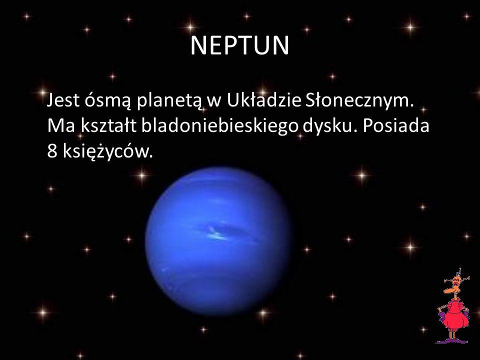 URAN Jest ogromną gazową planetą.Krążąc wokół Słońca przechyla się dziwnie na bok.