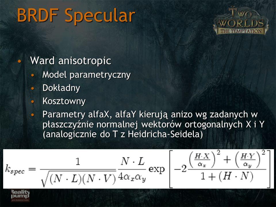 Ward anisotropicWard anisotropic Model parametrycznyModel parametryczny DokładnyDokładny KosztownyKosztowny Parametry alfaX, alfaY kierują anizo wg za
