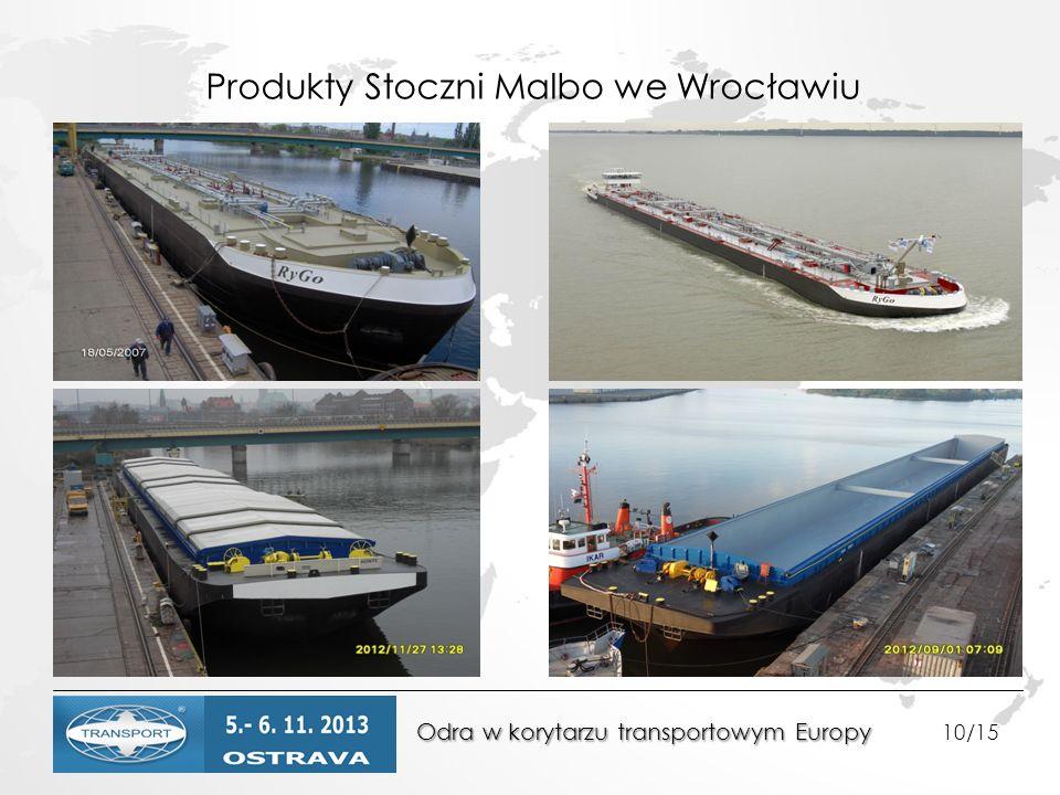 Produkty Stoczni Malbo we Wrocławiu Odra w korytarzu transportowym Europy Odra w korytarzu transportowym Europy 10/15