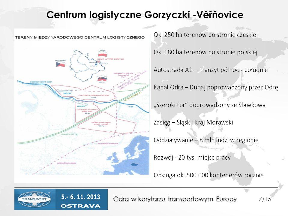 Odra w korytarzu transportowym Europy Odra w korytarzu transportowym Europy 7/15 Centrum logistyczne Gorzyczki -Věřňovice