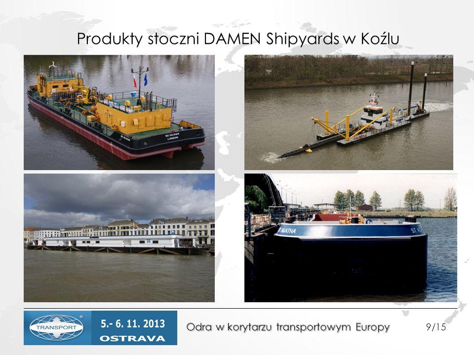 Produkty stoczni DAMEN Shipyards w Koźlu Odra w korytarzu transportowym Europy Odra w korytarzu transportowym Europy 9/15