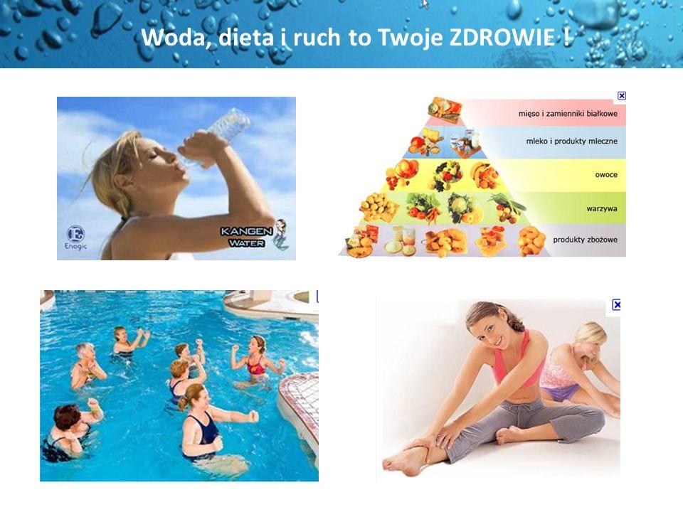 Mózg 80 % Kości 13 % Nerki 83 % Mięśnie 73.% Krew 91 % Funkcjonowanie całego organizmu czyli ZDROWIE zależy od jakości wypijanej wody Ciało człowieka składa się z 75 % wody