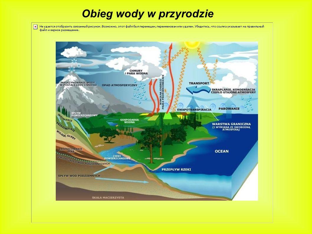 Woda jest bardzo rozpowszechnionym produktem na Ziemi.