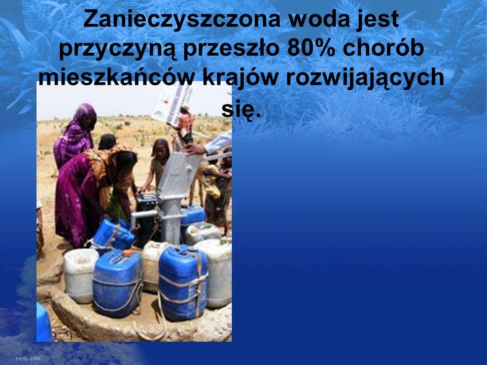 Zanieczyszczona woda jest przyczyną przeszło 80% chorób mieszkańców krajów rozwijających się.