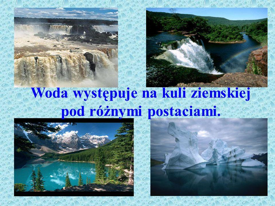 Woda występuje na kuli ziemskiej pod różnymi postaciami.