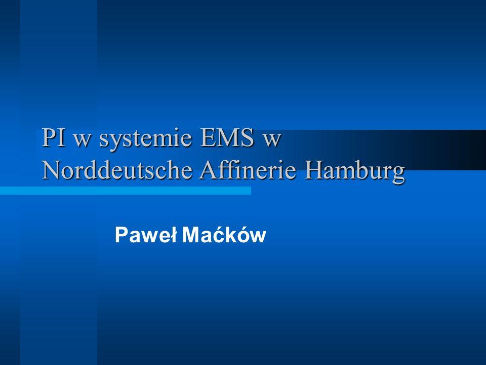 PI w systemie EMS w Norddeutsche Affinerie Hamburg Paweł Maćków