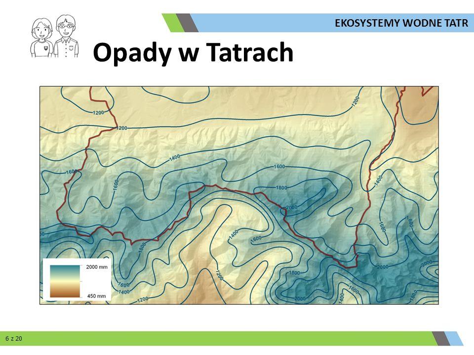 Opady w Tatrach 6 z 20 EKOSYSTEMY WODNE TATR