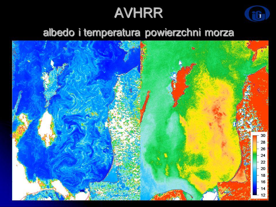 Dni Technik Satelitarnych Warszawa 21-24.06.2007 AVHRR albedo i temperatura powierzchni morza