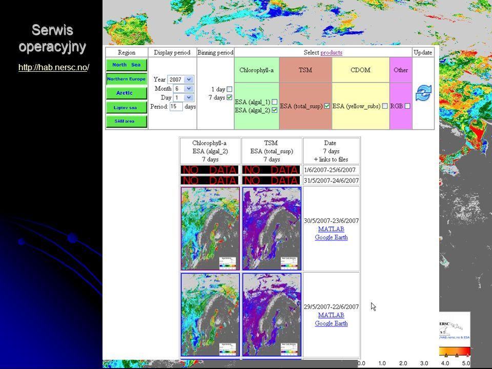 Dni Technik Satelitarnych Warszawa 21-24.06.2007 Serwis operacyjny http://hab.nersc.nohttp://hab.nersc.no/