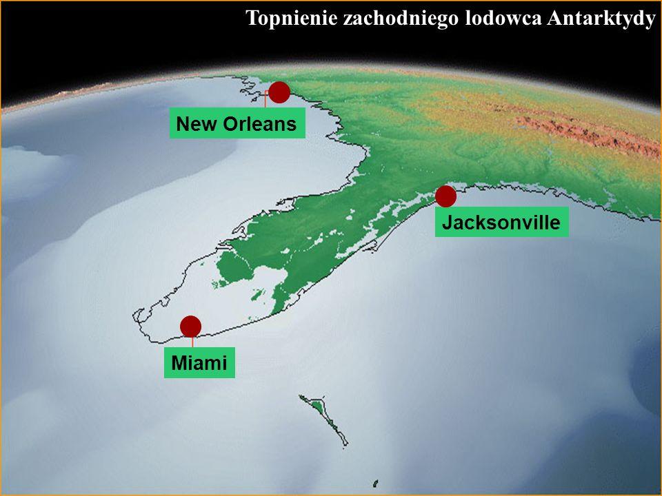 59 Topnienie zachodniego lodowca Antarktydy Jacksonville Miami New Orleans
