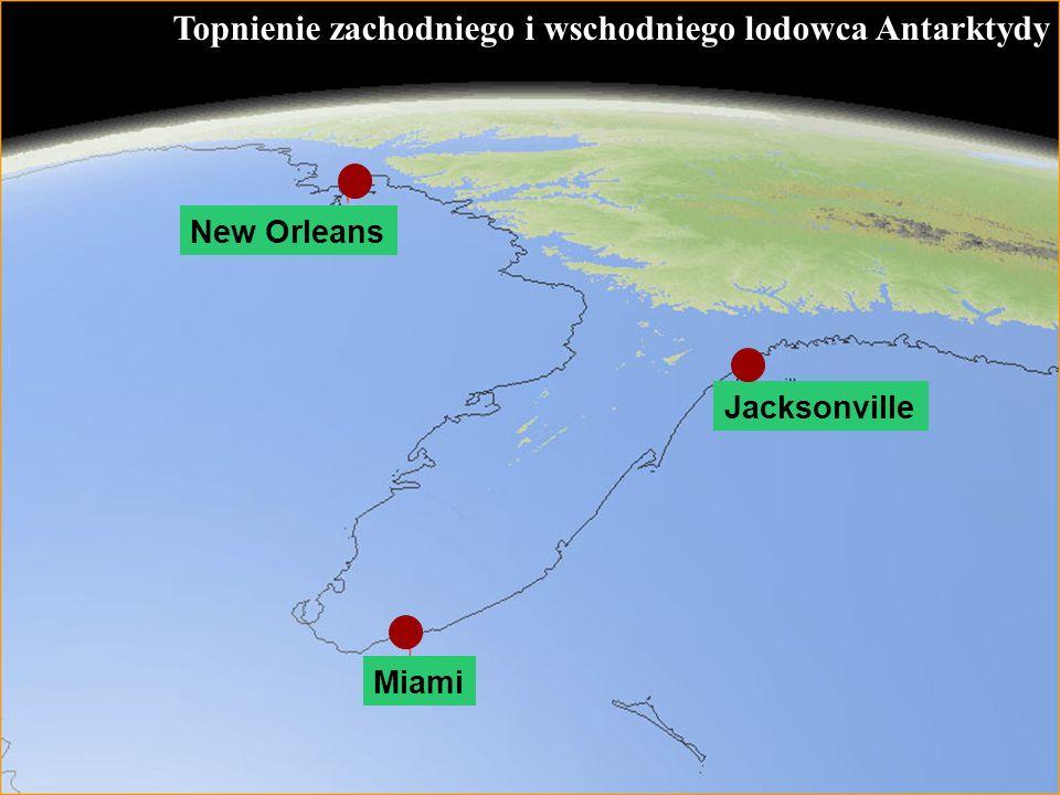 60 Topnienie zachodniego i wschodniego lodowca Antarktydy Jacksonville Miami New Orleans