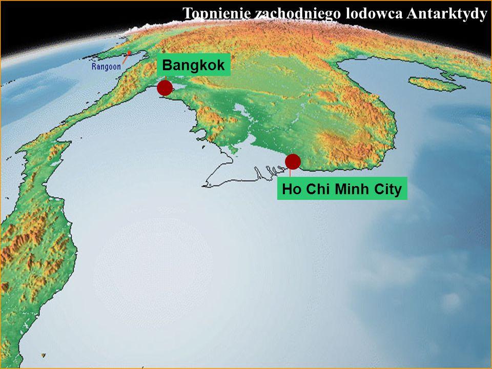 65 Topnienie zachodniego lodowca Antarktydy Ho Chi Minh City Bangkok