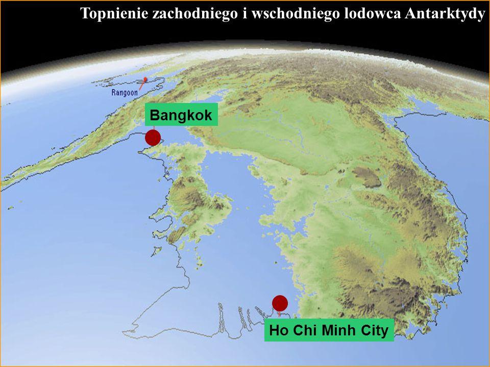 66 Topnienie zachodniego i wschodniego lodowca Antarktydy Ho Chi Minh City Bangkok