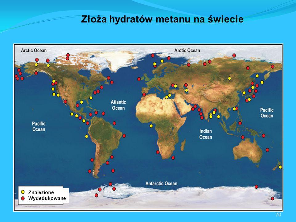70 Znalezione Wydedukowane Złoża hydratów metanu na świecie