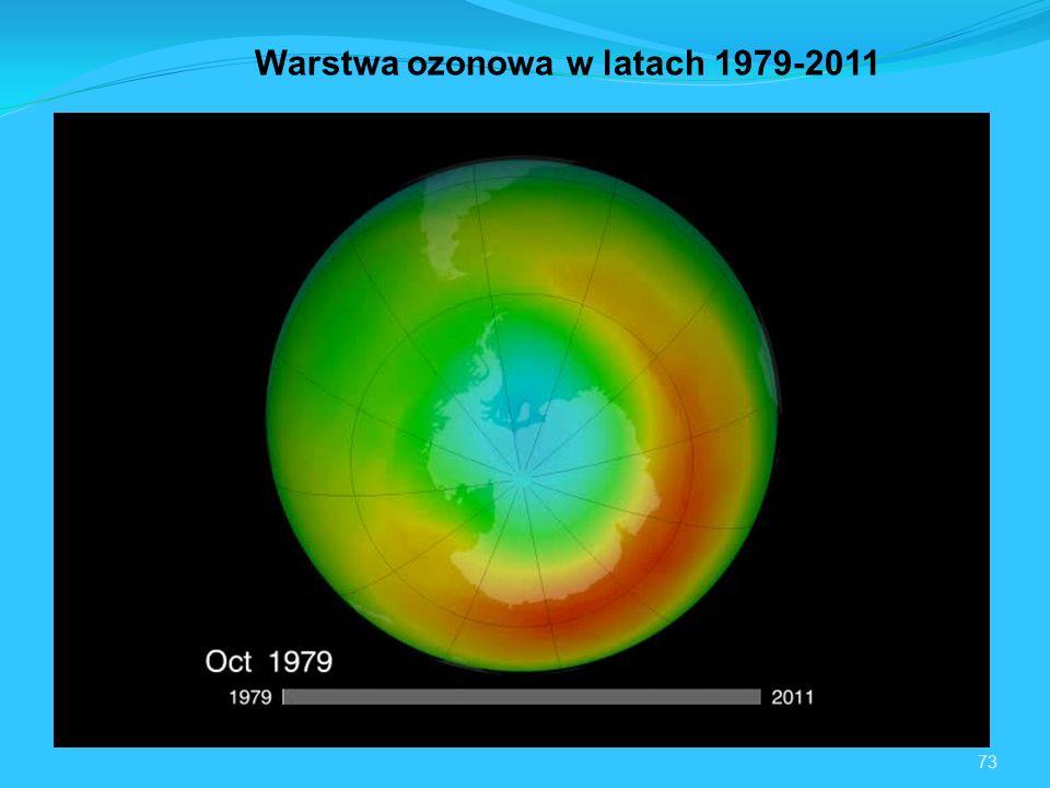 73 Warstwa ozonowa w latach 1979-2011