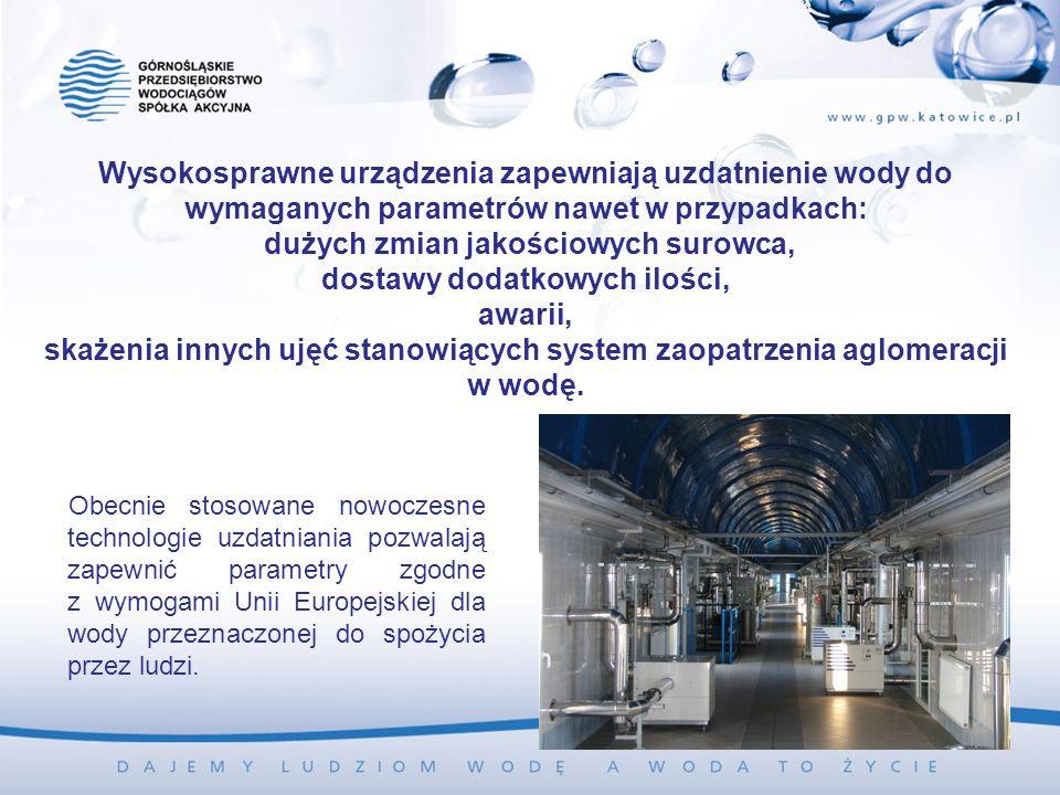 Wysokosprawne urządzenia zapewniają uzdatnienie wody do wymaganych parametrów nawet w przypadkach: dużych zmian jakościowych surowca, dostawy dodatkow